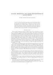 DUALITY, REFLEXIVITY AND ATOMIC DECOMPOSITIONS IN ...
