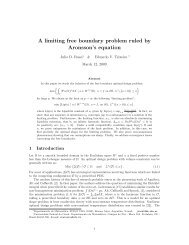 A limiting free boundary problem ruled by Aronsson's equation
