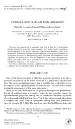 Computing Chow Forms and Some Applications - Universidad de ...