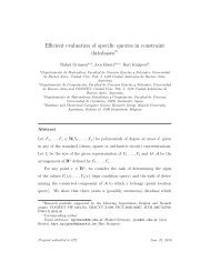 Efficient evaluation of specific queries in constraint databases
