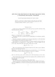 LIFE SPAN FOR SOLUTIONS OF THE HEAT EQUATION WITH A ...