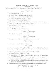 Ecuaciones Diferenciales - 2 cuatrimestre 2003 Práctica 3 Notación ...