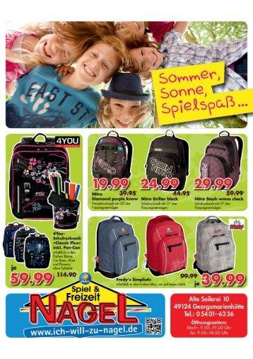 Flyer Juni für Homepage - Spiel & Freizeit Nagel KG