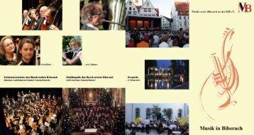 Vereinsprospekt mit Beitrittserklärung - Musikverein Biberach an der ...