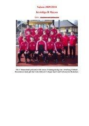 Saison 2009/2010 Kreisliga B Mayen - VFB Polch - Abteilung Fußball