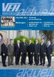 finden Sie das - Valora Effekten Handel AG
