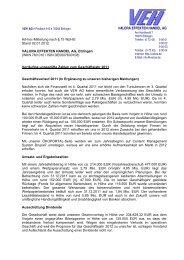 komplette Meldung zum Geschäftsverlauf 2011 - Valora Effekten ...