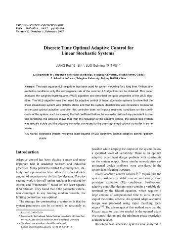 Discrete Time Optimal Adaptive Control for Linear Stochastic Systems