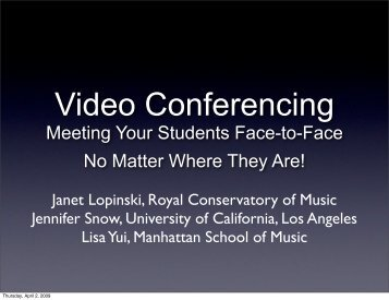 Video Conferencing - California