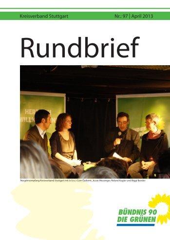 Kreisverband Stuttgart Nr.: 97 | April 2013 - Grüne Stuttgart