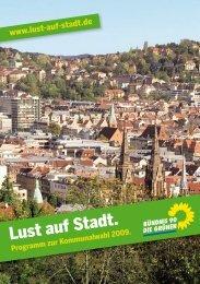Das Programm zur Kommunalwahl 2009 - Grüne Stuttgart
