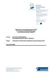 Allgemeine Vertragsbedingungen fuer Ambulantes Operieren 2009
