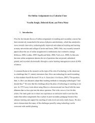 On Online Assignments in a Calculus Class - People.stat.sfu.ca ...