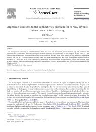 Algebraic solutions to the connectivity problem for m-way ... - MUCM