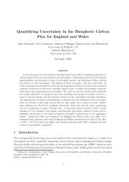 Quantifying Uncertainty in the Biospheric Carbon Flux for ... - MUCM