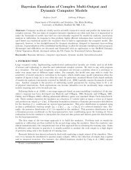 Bayesian Emulation of Complex Multi-Output and Dynamic ... - MUCM
