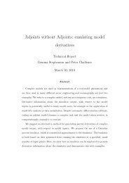 Adjoints without Adjoints: emulating model derivatives - MUCM