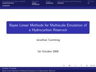 Bayes Linear Methods for Multiscale Emulation of a ... - MUCM