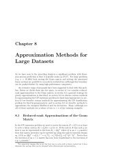 Approximation Methods for Large Datasets - MUCM