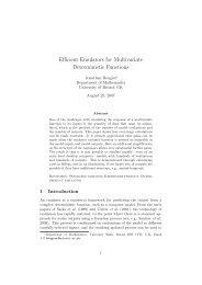 Efficient Emulators for Multivariate Deterministic Functions - MUCM