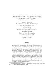 Assessing Model Discrepancy Using a Multi-Model Ensemble - MUCM