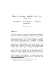 Modelling Uncertainty in Satellite Derived Land Cover Maps - MUCM