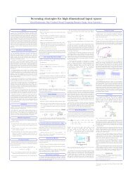 Screening strategies for high dimensional input spaces - MUCM