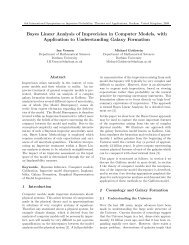 Bayes Linear Analysis of Imprecision in Computer Models ... - MUCM