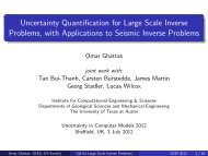 Uncertainty Quantification for Large Scale Inverse ... - MUCM
