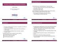 Sensitivity Analysis in Epidemiological Modelling - MUCM
