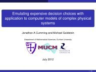Emulating expensive decision choices with application to ... - MUCM