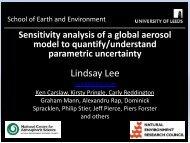 Sensitivity analysis of a complex global aerosol model to - MUCM