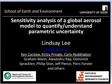 Sensitivity analysis of a complex global aerosol model to - MUCM