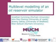 Multilevel modelling of an oil reservoir simulator - MUCM