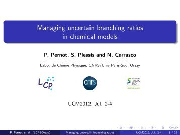 Managing uncertain branching ratios in chemical models - MUCM