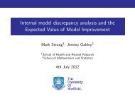 Internal model discrepancy analysis and the Expected ... - MUCM