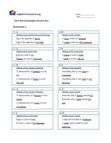 English for everyone english worksheets