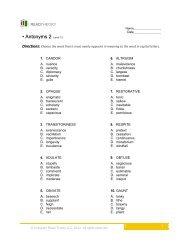 Antonyms 4 - English for Everyone