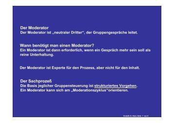 Moderation - Bildung eV