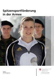Spitzensportförderung in der Armee - CH
