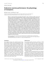 Endurance exercise performance: the physiology of ... - Swiss Cycling