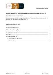 ausschreibung schweizermeisterschaft junioren ... - Swiss Cycling
