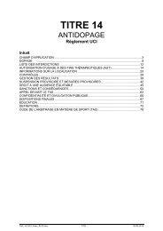 Titre 14 – Antidopage - Swiss Cycling