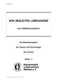 Vereinshandbuch Band 3 Kapitel 1 - Behindertenhilfe Offenbach