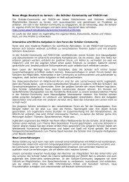 Neue Wege Deutsch zu lernen – die Schüler ... - GDI-Bulletin 2011