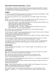 Short Guide to German Pronunciation - updated ... - GDI-Bulletin 2012