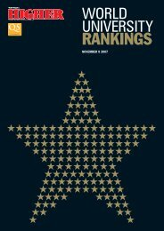 World University Rankings - Faculty of Industrial Engineering and ...