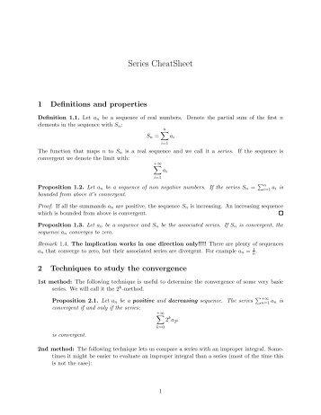 Series CheatSheet