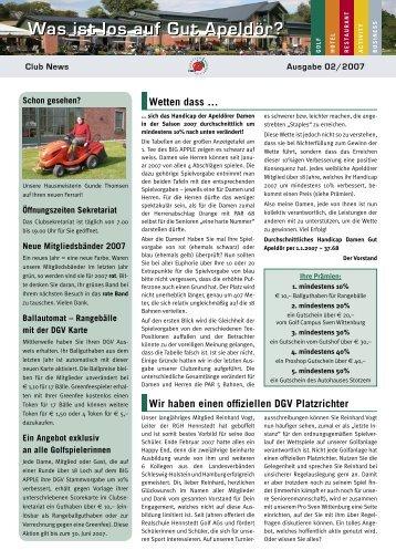 Ausgabe 02-2007 - Golf Club Gut Apeldoer