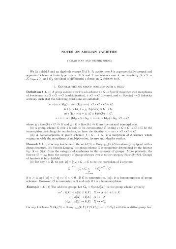 Incomplete notes - Department of Mathematics - Columbia University